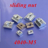 Wholesale 50pcs M5 T Sliding nut block Slot carbon steel Aluminum Accessories for series auminum profile