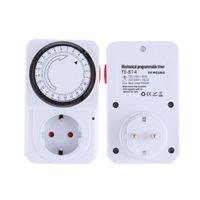 Wholesale New Hour Timer Switch Power Mechanical Electrical Program Energy Saver Time Clock Socket Mains EU US Plug