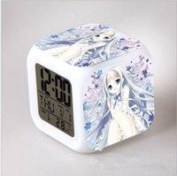 alarm sign - Honma Meiko modeling colorful color LED Alarm Clock Luo sign surgeon creative alarm clock drop shipping