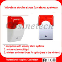 Wholesale Siren alarm with sound light for Mhz home secuirty alarm system indoor Wireless strobe Siren kit flash light transmitter