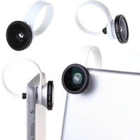 Wholesale Universal Degree Fisheye Lens Wide Angle Fish eye Lens Clip for iPhone4 s s Samsung S4 Note3 Nexus5 HTC PA1576