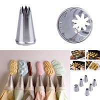 Wholesale 100PCS Cake Cream Mould Piping Flower Decorating Mouth Seamless Stainless Steel Cake Pastry Decorating Baking Tools Style Choose ZYU