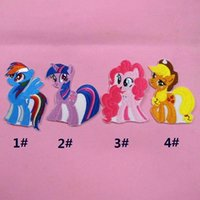 Wholesale 4 designs cm My Little Pony embroidered clothing patch baby Pony cartoon clothing hot paste patch child hat bags Pony Patch