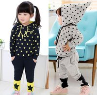 Cheap Korean Sports Stars Pointy Hat Sweater Suit Boys And girls Sports Clothing 2015 Spring Models Children's Suits