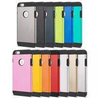 armor inserts - For iPhone Plus inch Tough Armor Case Cover Without Logo Dual Layers Hard PC Soft TPU Insert Contrast Colors Hybrid Protective DHL
