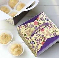 Wholesale DIY New Sets OF Elegant Purple Macaron Cupcake Cardboard Boxes Gift Package Container Paper Assorted