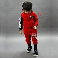 Wholesale 200 BBA5601 Kids Spiderman outfits sweater spider man Sports leisure suit spiderman hoodies Sweatshirt pants coat jacket outwear trousers