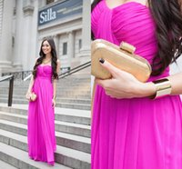 Cheap 2015 New Youthful Prom Dresses Vestidos De Fiesta Princess Peacock A-Line Ruffles Chiffon Sweetheart Graduation Hot Pink Evening Gown Spring