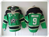 Wholesale ICE Hockey Hoodies Jerseys Men Stars Modano New Dark green Best quality stitching Jerseys Sports jersey Mix Order