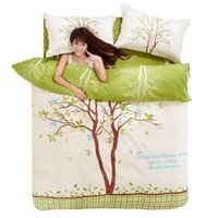 Wholesale Dynamic Pattern Bedding Sets Green for Girls Duvet Cover housse de couette dekbedovertrek Bed Cover Bedding Set