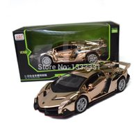 antique toy race cars - plating Veneno special edition new jiaye Pull Back Acousto optic Alloy Antique racing Cars Model children toy in gift box