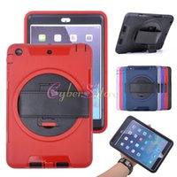 Wholesale For ipad Mini air Degree Rotating Robot Rugged Shockproof Case Cover Holder Stand For air2