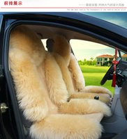 purple car seat covers - Car cushion Super warm wool car seat winter new plush car pad seat covers