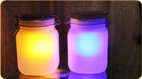 sun jar solar light - special gift sun glasses solar lamp in a preserving jar with LEDs garden ac night light decoration items