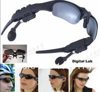 Wholesale mp3 Player Sports Sunglasses GB MP3 WMA sound Player in ear Headphone Headset mp3 glasses Sports MP3