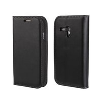 Cheap For Samsung Galaxy SIII Mini I8190 Paint Edge Genuine Wallet Leather Case