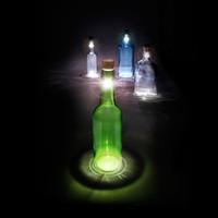 Wholesale 5Pcs White Rechargeable USB LED Night Light Cork Shaped Wine Bottle Vintage Wedding Party Decoration