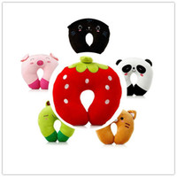 Wholesale Home Supplies Cute Cartoon U Shaped Massage Foam Pillows Lovely Home Office Travel Respite Cushion Neck Pillow