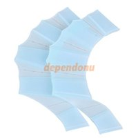 Wholesale Silicone Hand Swimming Fins Flippers Fast Finger Gloves Web Paddle Blue S