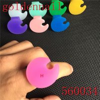 acrylic paint palette - Golden Nail High Quality Silicone Polish Ring Palette Acrylic Paint Nail Tools UV Nail Palette