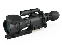 atn night - ATN Aries MAK410 monocular night vision rifle scope with IR illuminated with crosshair reticle for hunting shooting