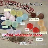 5000pcs / lotHOT casi di lenti a contatto di colore VENDITA trasporto libero, occhio contatto Box per lenti di Freshlook 100% nuovissimi colori misti