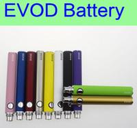 wholesale electronic lots - 30 EVOD battery mAh mAh mAh electronic cigarette battery eGo e cigarettes for MT3 CE4 CE5 MINI PROTANK atomizer