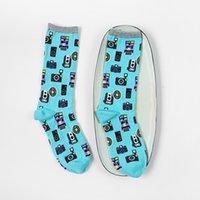 art camera - men s socks vintage camera tube men all match blue high elastic cotton socks combed cotton socks Art