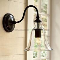 bell lamps - Vintage Industrial Wall Light Bell Shape Glass Elegant Home Decor lamp cm inch LLWA031