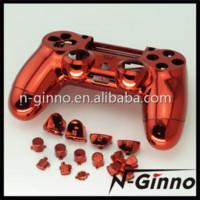 al por mayor playstation roja-El envío libre cromo PS4 Shell rojo encajona para los cargadores de Shell del reemplazo de la cubierta de Sony Playstation 4 PS4