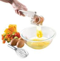 Wholesale Simple designed egg beaters Sturdy plastic egg cracker Egg separator makes separating egg yolks and whites just as easy