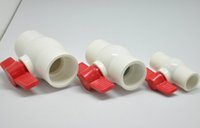 Wholesale PVC water faucet valve pipe fittings all plastic ball valve through the bidirectional thread PVC type ball valve