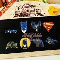 Wholesale Super Heros BAT MAN Refrigerator stickers kids gift Fridge magnets Blackboard Magnets Office School Supplies Magnetic Sticker