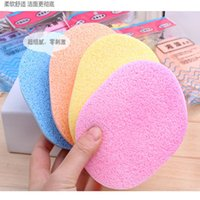 bash color - Lady selling color makeup sponge puff on seaweed cleansing wash up remover cotton face bashing fashion