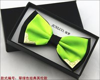 Wholesale New Bow Tie Men Polyester Adjustable bowtie Solid Mental Decorated Neckwear commercial best quality free ship