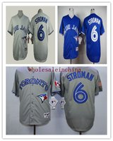 Wholesale Blue Jays Baseball Jerseys Men STROMAN White Grey RED Black Blue Jerseys stitched Top quality Mix Order Free Fast Shipping