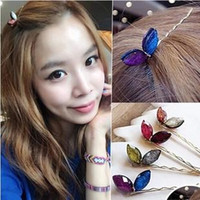Wholesale 2015 Lovely Hair Jewelry Women Girls Crystal Rabbit Ears Hair Hairpins Bangs Clips Hair Accessories
