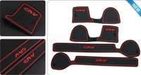 Wholesale Car styling Anti slip mat sticker gate slot pad door carpet Interior decoration for CRV Non slip Interior door pad