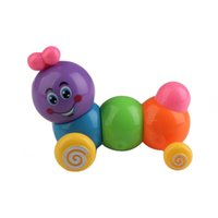 Wholesale V1NF Cute Carpenterworm Cutworm Clockwork Spring Bug Children Wind up Toys Children Cutworm Toys