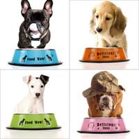 ceramic dog bowl - DU Fashion Stainless Steel Pet Bowl Anti skid Cat Dog Food Water Bowl Pet Feeding Tool