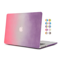 Wholesale Ultrathin case for apple macbook air pro retina with retina for macbook A1534 A1466 A1278 A1286 A152 rainbow gradient