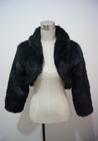 Faux fur jackets Цены-Бесплатная доставка горячей продажи полный рукав искусственного меха Люкс обертывания Куртки шали обруча пальто куртки болеро Свадебные аксессуары