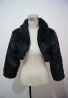 Wholesale Hot sale Full Sleeve Faux Fur Bridal Wraps Jackets Wrap Shawl Jacket Coat Bolero Wedding Accessories