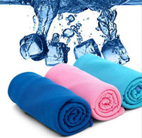 Wholesale 2015 Mix Color cm Ice Towel Utility Enduring Instant Cooling Towel Heat Relief Reusable Chill Cool Towel
