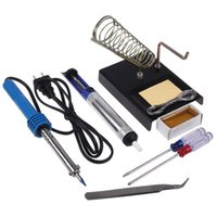 Wholesale New in1 DIY Electric Solder Starter Tool Kit Set With Iron Stand Desolder Pump V