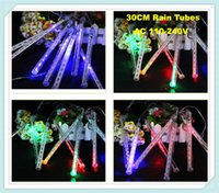 Wholesale 2pcs cm Meteor Shower Rain Tubes LED Christmas Tree Light Garden Decoration String Light V PC set Tube
