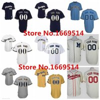 milwaukee - 30 Teams Cheap Custom Milwaukee Brewers Baseball Jerseys Customized Fast Personalized For Any Name Any Number Stitched Jerseys China