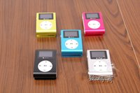 Wholesale Colorful MINI Clip Music MP3 Player Support Micro SD TF Slot with Inch LCD Screen Earphone USB Cable with without Gift box