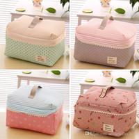 Wholesale Big Promotion Women Travel Lovely Cosmetic Bag Folded Canvas Clutch Bag Makeup Bag Toiletry Kits Organizer Bag Handbags ZB0175 Salebags