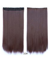 clip in one piece extensions - Feshfen One Piece Clip In Hair Extensions Straight Clip In Hair Extensions Synthetic Hair Extensions